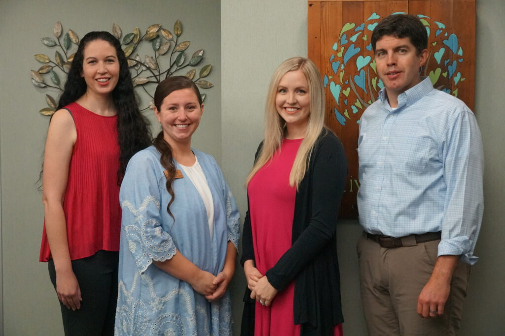 Dr. Tate, Dr. Savage, Hanna Baxendale, APRN, Lindsay Moudy, providers for Living Tree Pediatrics